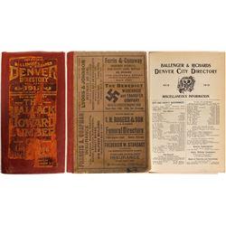 Directory / Denver, Colorado.  (89573)