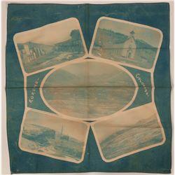 Kokomo, Colorado Cloth Photo Montage, Scenes Along the D.& R.Grade R.R.   (111611)