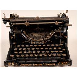 Type writer / Underwood # 5  (109738)