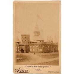 Creston's Blue Grass Palace Cabinet Photo, Creston, Iowa  (111610)