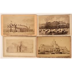 Group of 4 CDV's Include Expo Includes 2 from International Peace Jubilee, Boston  (111612)
