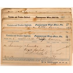 Virginia and Truckee Railroad passenger way-bills 1880  (115182)