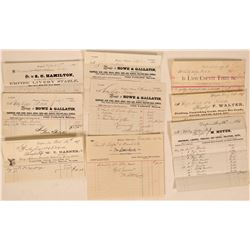Group of 1860s Dayton, Nevada Billheads incl. Druggist  (113194)