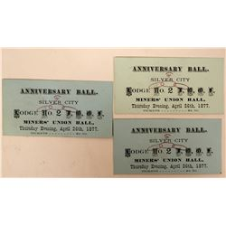 Three Tickets to IOOF Ball, Silver City, Nevada  (113187)