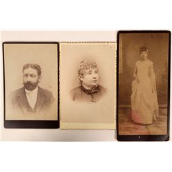 3 Cabinet Photos from J.H. Crockwell, Virginia City, Nevada  (111607)