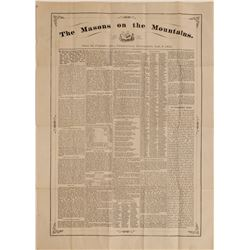 """The Masons on the Mountains"" Virginia City Broadside  (113184)"
