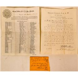 1875 Virginia City Fire Documents  (113190)
