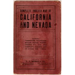C.F. Weber & Co. California and Nevada Pocket Map  (116837)