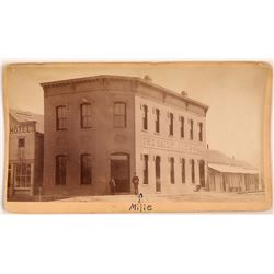 c.1880 Cabinet Card of The Daily Journal, Albuquerque, New Mexico  (113098)
