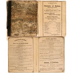 1870s Personal Scrapbook of Theatre Handbills  (115615)