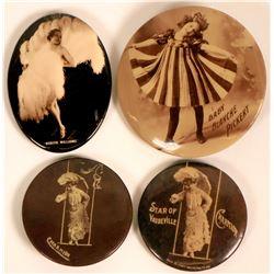 Four Vaudeville Pinbacks  (116382)