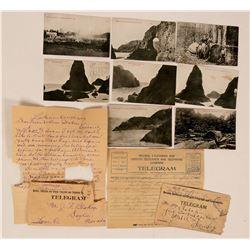 Oregon Postcards & Telegraph Ephemera  (113189)