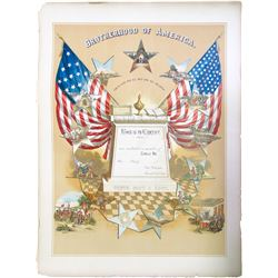 Brotherhood of America Enrollment Print  (85164)
