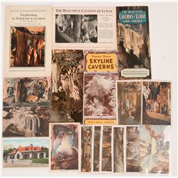 Virginia Cave Brochures (5) + Postcards (12)  (116295)