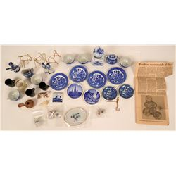 Blue Willow Doll Dishes and Other Small Items  (116193)