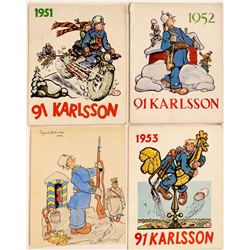 Three Swedish 1950s Comics Plus Original Art  (113196)