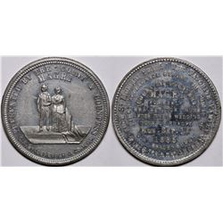 Gen. and Mrs. Tom Thumb Wedding Circus Token  (116501)