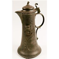 Beer Stein / Pewter / Art Nouveau  (100597)
