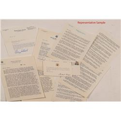 40 Political Letters from 1969-19743: Including Stevenson, Goldwater, Thurman, Nixon, etc.  (104505)
