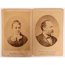 Cabinet Cards of President Garfield & His Wife  (113120)