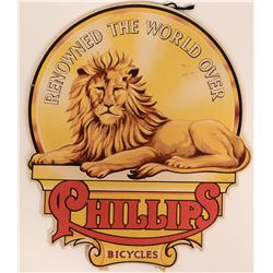 Phillips Bicycles Advertising Cardboard Piece  (115729)