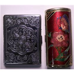 Cigarette Cases, Vintage Ladies Designer Items (Lot of 2)  (115167)