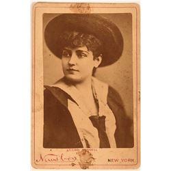 Vintage Vaudeville Lillian Russell Cabinet Photo Card  (117138)