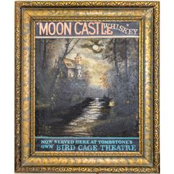 Moon Castle Whiskey Advertising, Oil on Canvas  (49050)