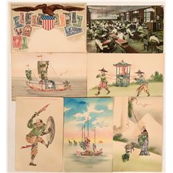 U.S. Stamp and Asian Art Early Postcards  (116491)