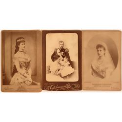 Three Russian Royalty Cabinet Cards of Czar and Family  (116335)
