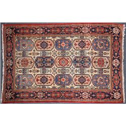 Antique Carpet / Possibly Herize Serapi Tribal Carpet  (102102)
