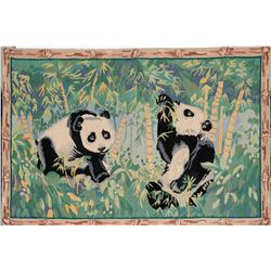 Panda Bear Rug, ~36x60-inches  (116183)