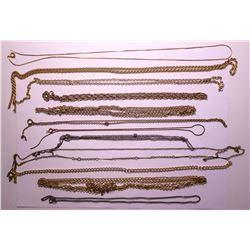 Vintage costume jewelry broken chains   (114803)
