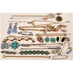 Vintage costume jewelry collection (lot 20)  (115024)