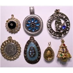 Vintage costume jewelry pendants (lot 7)  (115169)