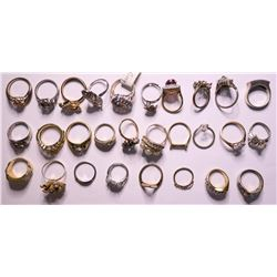 Vintage costume jewelry Womens Rings (lot 15)  (114808)