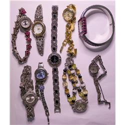 Vintage costume jewelry Womens Watches (lot 9)  (115155)