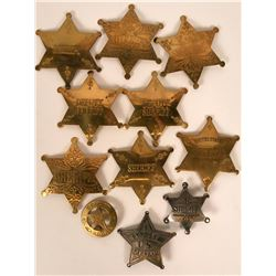 Vintage costume Sheriff and Deputy badges (lot 11)  (115016)