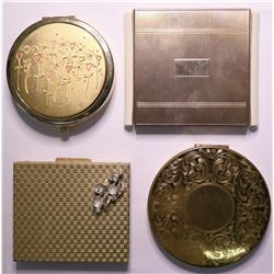 Vintage Ladies' Designer Cosmetic Compacts (Lot of 4)  (115166)