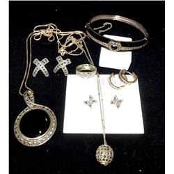 Vintage Marcasite Silver Jewelry Lot (7 pieces)  (116173)