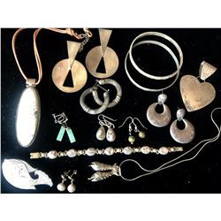 Vintage Sterling Silver Jewelry (13 Pieces)  (116155)