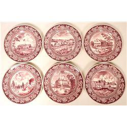 Souvenir Plates, 1939 NY World's Fair Exposition (6)  (115357)