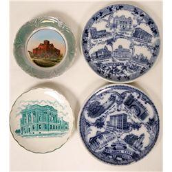 Souvenir Plates from Oklahoma (4)  (115348)