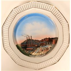 Souvenir Mining Plate, Sonora Mexico  (115361)