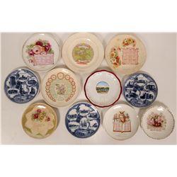 Souvenir Plate Collection, Ohio, Illinois & Iowa (11)  (115374)