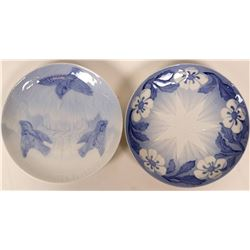Royal Copenhagen Christmas Plates (Blue) 1897 and 1898  (116243)