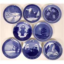 Royal Copenhagen Christmas Plates Seven Years: 1912, 1915, 1916,1920,1923, and 1924  (116254)