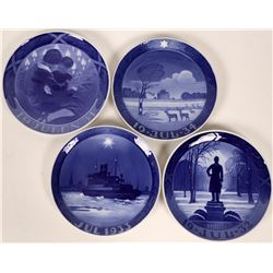 Royal Copenhagen Blue- Christmas Plates 1931,1932, 1933, and 1934  (116245)