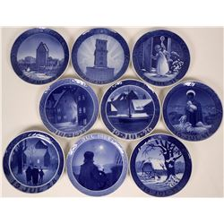 Royal Copenhagen Christmas Plates -Misc. lot Nine plates: Jul 1947,1949,1950, 1951 and 1952, 1925, 1