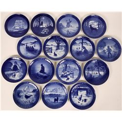 Royal Copenhagen Blue Christmas Plates : 1960,1961,1962, 1963,1964, 1965,1966, 1967, 1968, 1969,1970